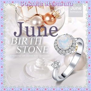 🆕💖Rotating JUNE Birthstone Ring💖SIZE ADJUSTS✨